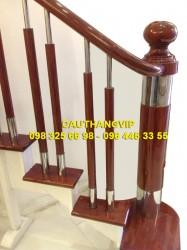 Cầu thang gỗ inox đẹp VIP-G04