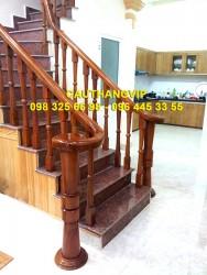 Cầu thang gỗ đẹp VIP-G09