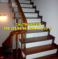 Cầu thang gỗ sắt VIP S21