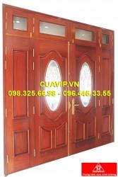Cửa 4 cánh gỗ tự nhiên đẹp VIP C405