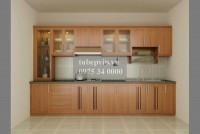 Tủ bếp chữ I gỗ sồi MSD1
