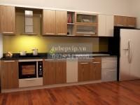 Tủ bếp chữ I gỗ dổi MSDI02